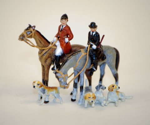 TEMPORARILY OUT OF STOCK  Vienna Bronze Riders and Hounds