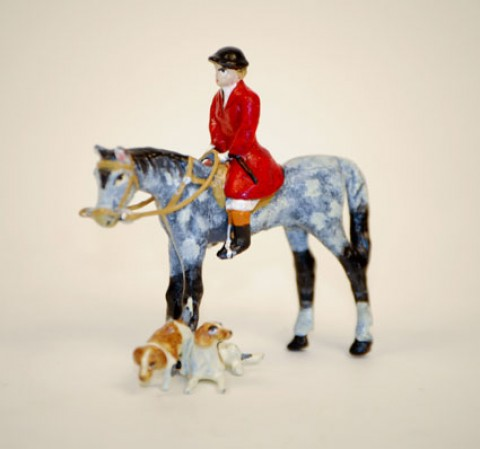 Vienna Bronze 'Fox Hunter with his Hounds' - MD