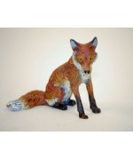 Vienna Bronze Sitting Fox