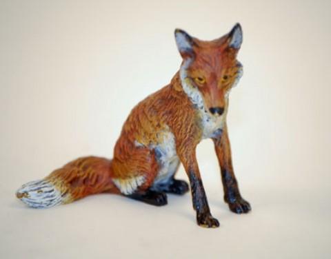 Vienna Bronze Sitting Fox