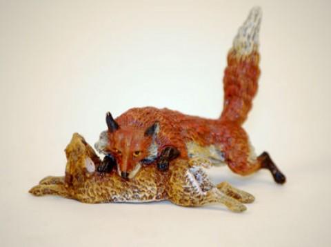 Vienna Bronze Fox with Rabbit