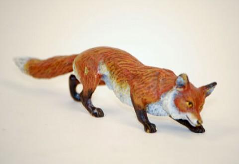 Vienna Bronze Fox Snuffling