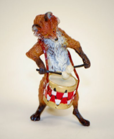 TEMPORARILY OUT OF STOCK - Vienna Bronze Drummer Fox