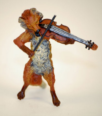 TEMPORARILY OUT OF STOCK - Vienna Bronze Violin Fox