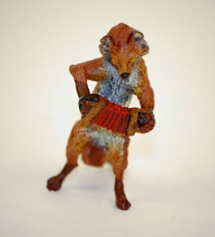 Vienna Bronze Accordian Fox