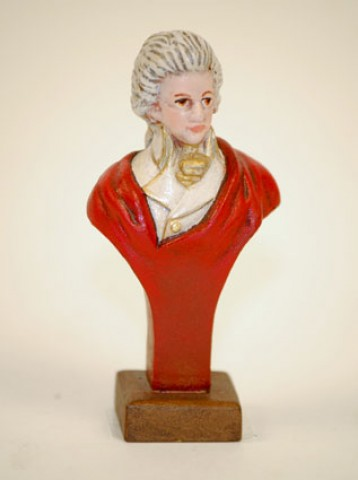 TEMPORARILY OUT OF STOCK - Wienna Bronze Mozart Bust