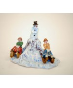 TEMPORARILY OUT OF STOCK - Vienna Bronze Snowman with People Sledding