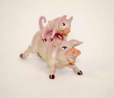 Vienna Bronzes 'Pigs racing'