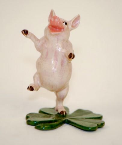 Vienna Bronze Pig Dancing