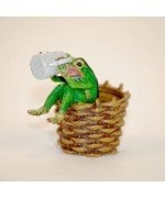 TEMPORARILY OUT OF STOCK <BR><BR>  Vienna Bronze 'Frog Drinking'