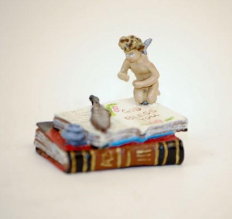 Vienna Bronze Angel on Books