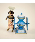 TEMPORARILY OUT OF STOCK <BR><BR>  Vienna Bronze 'Baker Dachshund'