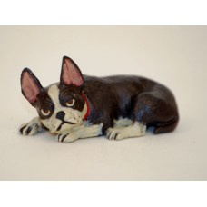 TEMPORARILY OUT OF STOCK <BR><BR>  Vienna Bronze 'Bulldog laying down'