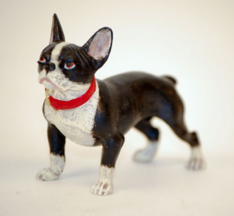 TEMPORARILY OUT OF STOCK <BR><BR>  Vienna Bronze 'Bulldog standing'