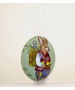 TEMPORARILY OUT OF STOCK FATHER Peter Priess of Salzburg Hand Painted Easter Egg Bunny with Eggs and Flowers