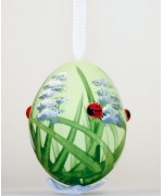 Peter Priess of Salzburg Hand Painted Easter Egg Lady Bugs