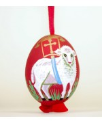 Peter Priess of Salzburg Hand Painted Easter Egg Easter Lamb