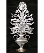 TEMPORARILY OUT OF STOCK - Wilhelm Schweizer Unpainted Pewter Standing Flower Arrangement