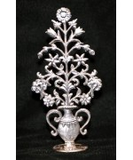 Wilhelm Schweizer Unpainted Pewter Flower Arrangement