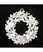 Wilhelm Schweizer Unpainted Pewter Winter Wreath