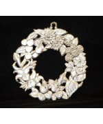 Wilhelm Schweizer Unpainted Pewter Summer Wreath