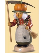 Mueller Smokerman Erzebirge halloween witch with pumpkin