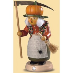 Mueller Smokerman Erzebirge halloween witch with pumpkin