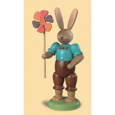 Mueller Easter Bunny with Colorful Pinwheel