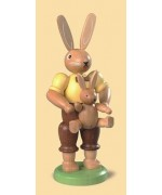 Mueller Easter Bunny Papa Rabbit with Baby Bunny