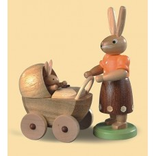 Mueller Easter Bunny with Baby Stroller