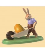 Mueller Easter Bunny and his  wheelbarrow