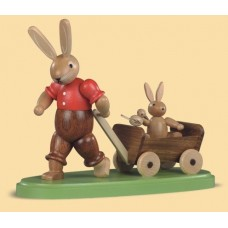 Mueller Easter Bunny Pulling Wagon