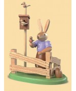 Mueller Easter Bunny visiting this birdhouse