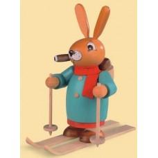 Mueller Smokerman Erzgebirge Easter Bunny Skier