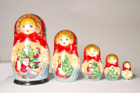 The Night Before Christmas Nesting Doll G. DeBrekht