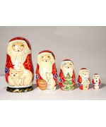 Polar Bear Santa Nesting Doll G. DeBrekht - TEMPORARILY OUT OF STOCK