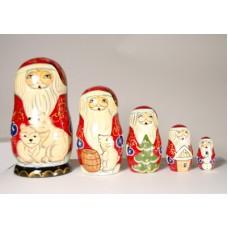 Polar Bear Santa Nesting Doll G. DeBrekht - TEMPORARILY OUT OF STOCK