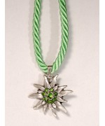 TEMPORARILY OUT OF STOCK - Apple Green Edelweiss Swarovski Necklace