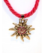 Pink Edelweiss Swarovski Necklace