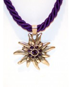 Purple Edelweiss Swarovski Necklace