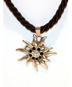 Black Edelweiss Swarovski Necklace