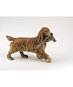 TEMPORARILY OUT OF STOCK <BR><BR>  Vienna Bronze  'Big Irish Setter with pheasant'