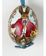 Peter Priess of Salzburg Hand painted Easter Egg Bunny Painting
