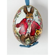 TEMPORARILY OUT OF STOCK - Peter Priess of Salzburg Hand painted Easter Egg Bunny Painting