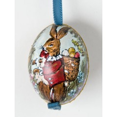 TEMPORARILY OUT OF STOCK - Peter Priess of Salzburg Hand Painted Easter Egg Osterhase