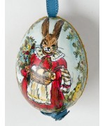Peter Priess of Salzburg Hand Painted Easter Egg Bunny with Eggs