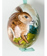 Peter Priess of Salzburg Hand Painted Easter Egg Osterhase
