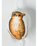 Peter Priess of Salzburg Hand Painted Easter Egg Brown Owl