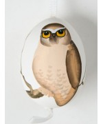 TEMPORARILY OUT OF STOCK - Peter Priess of Salzburg Hand Painted Easter Egg Owl