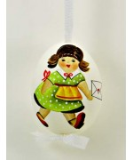 TEMPORARILY OUT OF STOCK - Peter Priess of Salzburg Hand Painted Easter Egg Little Girl